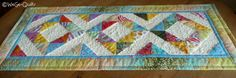 """table runner according to the instructions of Missouri Star Quilt Company: """"Half Square Triangle Quilt"""""""