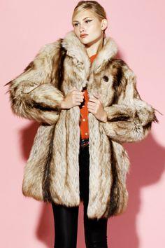 Vintage Goat Fur Coat http://thriftedandmodern.com/vintage-goat-fur-coat