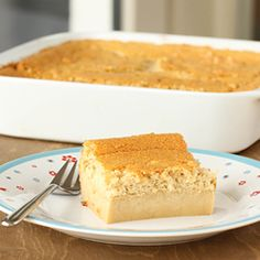 Butterscotch magic cake. Dark brown sugar, browned butter... oh, yeah!