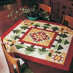 """Holiday Cheer"" table topper tree, holiday cheerlov, holiday tables, christma quilt"
