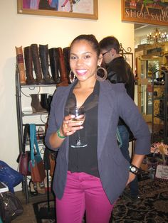 Cheers to all who joined us at the Noe Valley Wine Walk! This happy customer wore her new jacket right out the door!