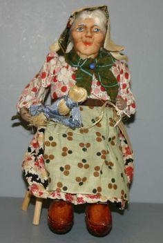 """Ravca"" Cloth Doll 'Peasant Woman in Chair' | eBay"