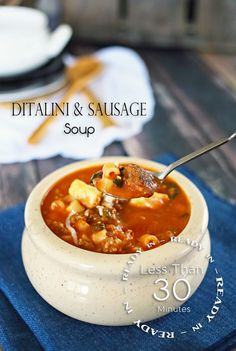 Ditalini & Sausage Soup