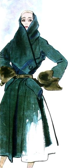 1950 - Dior Coat in Modes & Travaux