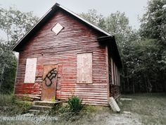 Schoolhouse at Atsion Village, constructed circa 1914. Located in Wharton State Forest, Shamong, NJ. Learn more at www.thehistorygirl.com