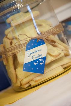 Have grandma make cookies at a first birthday party! TOO CUTE! Via Kara's Party Ideas #1stbirthdayparty #ideas #firstbirthday #cookies #grandma