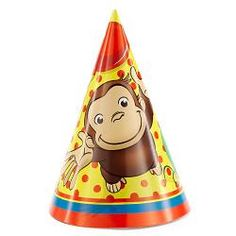 Curious George Party Hats [8 Per Pack]$4.99