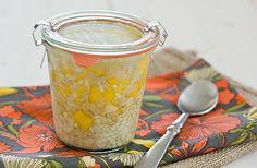 Coconut Mango Overnight Oatmeal