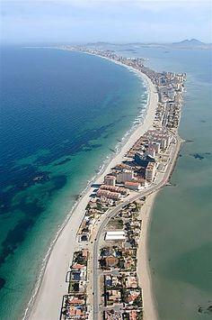 La Manga del mar menor. Murcia. España.