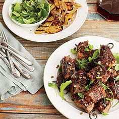 Steak and Fingerling Potato Kabobs | Grill the potatoes and steak at the same time. Baste with melted butter with each turn for a rich, mouthwatering result. | SouthernLiving.com