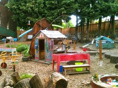 How To Build Your Own Backyard Playground: None of these things are expensive and that's how a child's play space should be. If there is any great truth about an outdoor classroom is that it should be continually evolving and adapting, a hodge podge of old and new and everything in between....