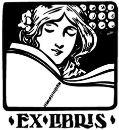 Book plate girl reading