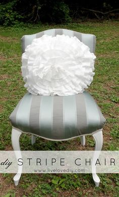 How to turn an old thrift store chair into a chic new chair!