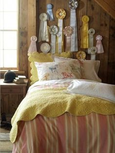 Vintage pink & yellow from Kelly and Olive.com