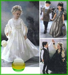 Childrens Medieval Wedding Patterns Flower Girl by patternkingdom, $14.99