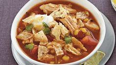 Chicken Tortilla Soup ~ Crock Pot