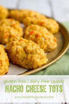 Nacho Cheese Cauliflower Tots #paleo. ☀CQ #glutenfree