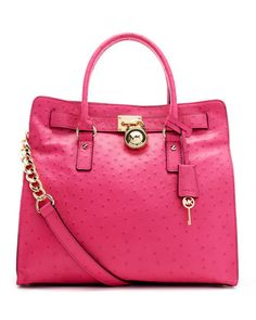 MICHAEL Michael Kors  Large Hamilton Ostrich-Embossed Tote....want it