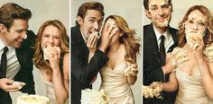 the office. jim and pam. too cute