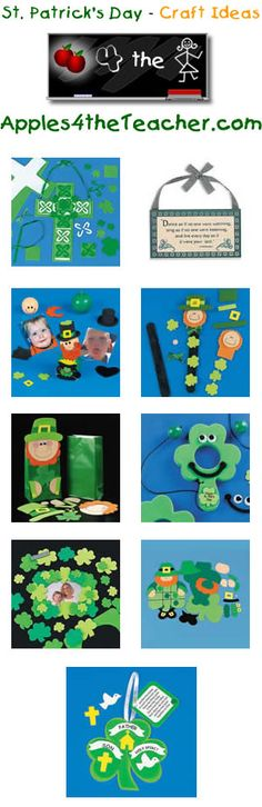 Fun St. Patricks Day crafts for kids - St. Patrick's Day craft ideas for children.  http://www.apples4theteacher.com/holidays/st-patricks-day/kids-crafts/
