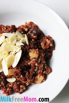 Diary Free Apple Cinnamon Breakfast Quinoa