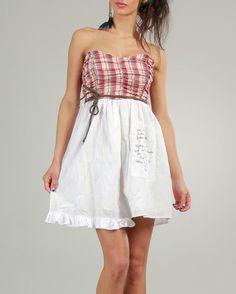 Ian Mosh Tartan Print Embellished Pleated Dress - Sales Events - Modnique.com