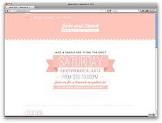 wedding website / jakelovessarah.com