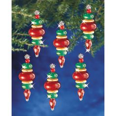 "Kids will love making this Christmas ornament craft for the holiday season! A must-have to bust snow day boredom! Holiday Beaded Ornament Kit-Victorian Baubles 2-1/4""X3/4"" Makes 12"