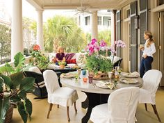 Fabulous! decor, idea, outdoor patios, southern porches, patio decks, hous, back porches, side chairs, front porches
