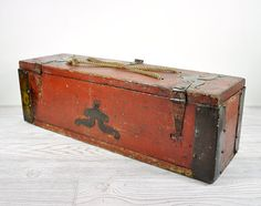 Antique Rustic Wooden Box / Wood Storage Box / by havenvintage, $64.00