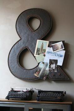 steel ampersand magnetic board.