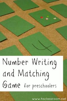 Number Writing and Matching Game for Preschoolers   Homeschool Classroom ~ article by Becky Spence of This Reading Mama