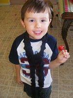 Bobble Scarf for little boys #scarf free #crochet pattern
