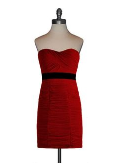 Ruby Red Sweetheart Strapless Dress
