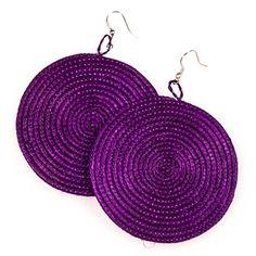 Rwandan Sisal Earrings Purple now featured on Fab.