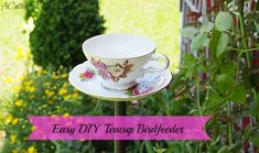 easy diy tea cup bird feeder instructions