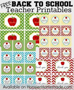 {Free} Teacher printables