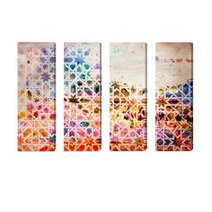 4 Piece Vida en Tanger Canvas Print Set