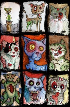 Zombie Cat prints from Zombies!