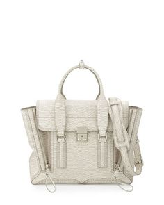 Pashli Medium Satchel Bag, Ivory/Dove by 3.1 Phillip Lim