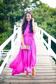 With Love From Kat steps out for an evening in Nantucket in our Sarah Asymmetric Maxi.