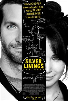 Silver Linings Playbook 11.21.12 starring Bradley Cooper and Jennifer Lawrence. music, book worth, favourit film, must see movies, silver, playbook, favorit movi