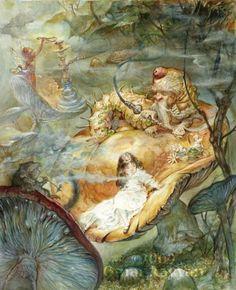 artists, alic omar, omar rayyan, illustrations, alice in wonderland