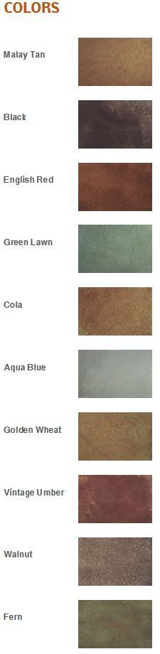 color, acid stain