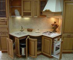 A unique compact kitchen design