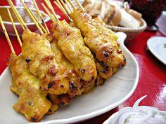 Satay Gai (Chicken Satay) » Thai food Recipes
