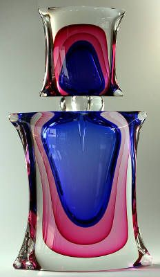 4 Corner Perfume Bottle glass art, colors, perfum bottl, corner perfum, blueberries, four corners, bottle art, vintage perfume bottles, perfumes bottles