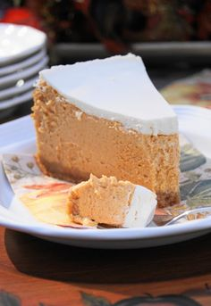 Creamy Pumpkin Cheesecake Oh my Sweet Jesus...the only thing that would make it better is a chocolate cookie crust.