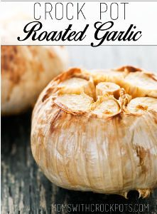 "This Slow Cooker ""Roasted"" Garlic recipe couldn't be easier! It only requires two ingredients--garlic and olive oil--and five minutes of pre..."