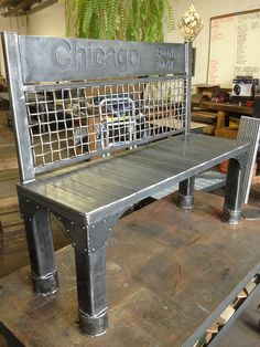 Custom Steel Bench by RiggoDesign, via Flickr